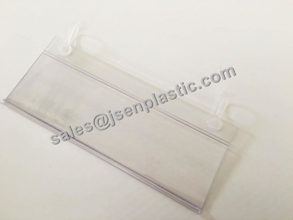 DBH39 plastic label holder loop for wire shelf 02 1024x768 - Hanging data strips DBH39