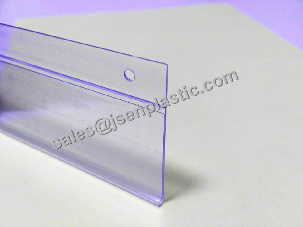 DBH39 plastic label holder loop for wire shelf 03 - Hanging data strips DBH39